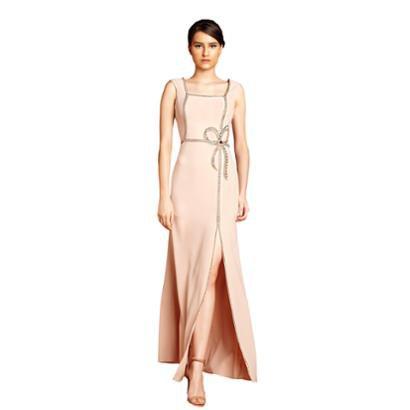 Vestido Izadora Lima Brand Em Crepe Com Decote Quadrado Bordados De Laço Feminino-Feminino