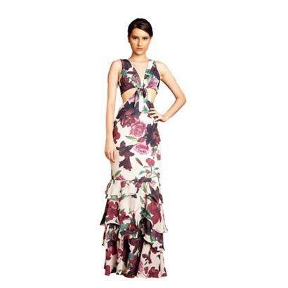 Vestido Izadora Lima Brand Em Musseline Lateral Vazada Estilo Cropped Com Laço No Decote Feminino-Feminino