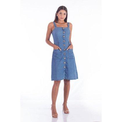 Vestido Jeans Alça Top