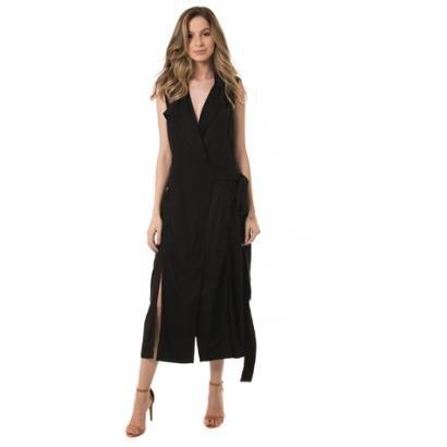 Vestido Jeans Denuncia Trench Coat-Feminino