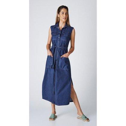 Vestido Jeans Express Ultilitario Midi Mona
