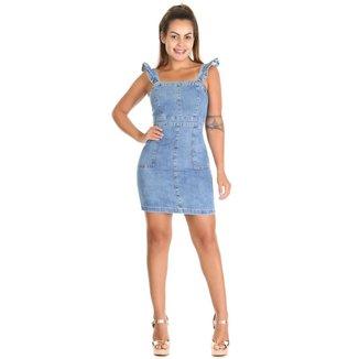 Vestido jeans feminina