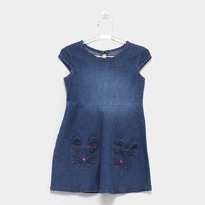 Vestido jeans infantil marinho lilica ripilica