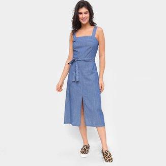 Vestido Jeans Influencer Amarração