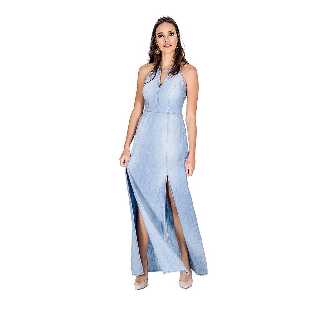 Imagens de vestido jeans longo
