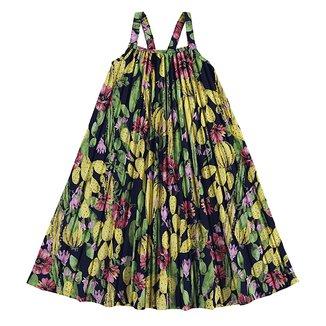 Vestido Juvenil Nanai Cetim Fosco Plissado