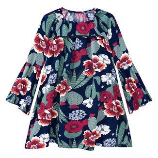 Vestido Juvenil Nanai Tricoline Viscose Floral