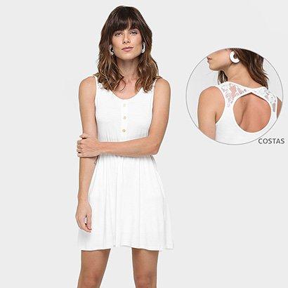 Vestido La Gata Blusê Recorte Renda Costas-Feminino
