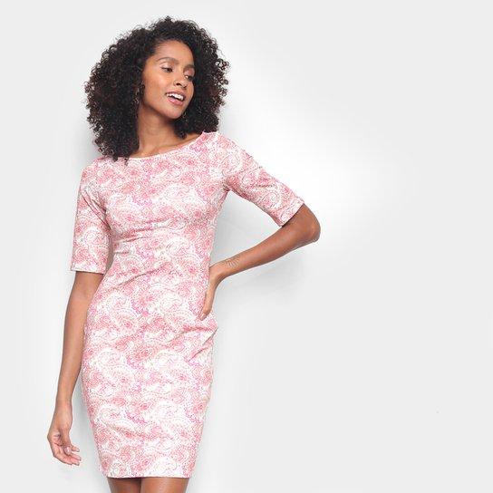 Vestido Lança Perfume Estampado - Rosa