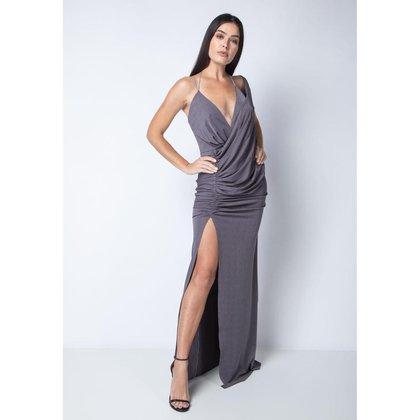 Vestido Lança Perfume Fenda Lateral Feminino