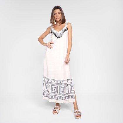 Vestido Lança Perfume Midi Estampado