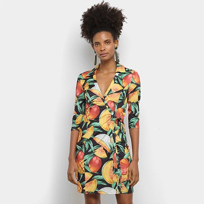 Vestido Lança Perfume Transpasse Tropical