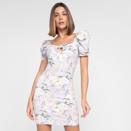 Vestido Lança Perfume Tubinho Curto Floral
