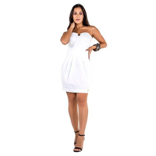 Vestido Latifundio Tomara Que Caía Feminino - Branco