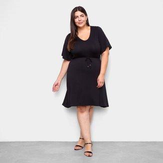 Vestido Lecimar Curto Plus Size Básico