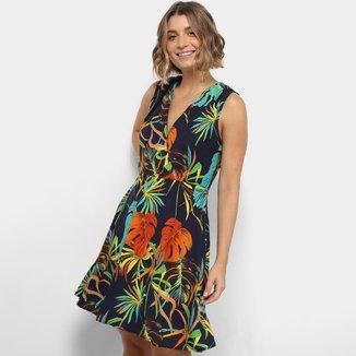Vestido Lily Fashion Floral Decote V