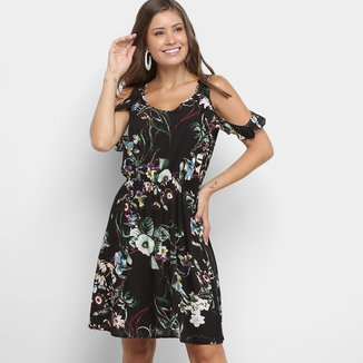 Vestido Lily Fashion Open Shoulder Floral