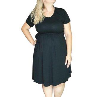 Vestido Linda Gestante Plus Size Básico Feminino