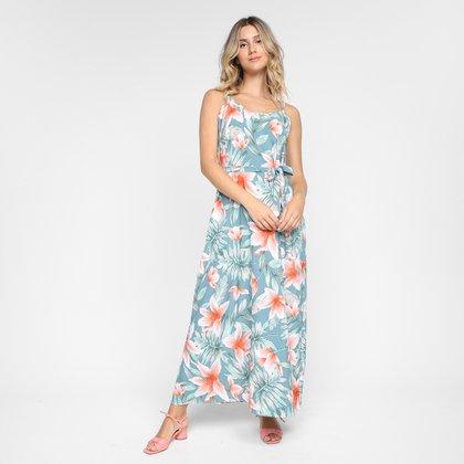 Vestido Longo Ayaka Alças Floral