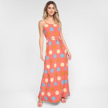 Vestido Longo Ayaka Poá Color