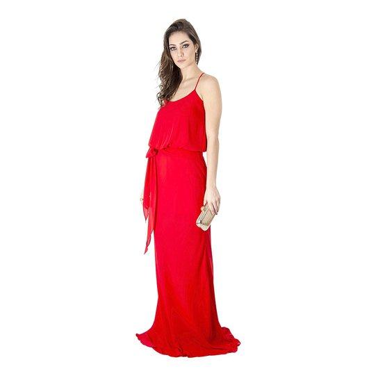 Vestido Longo Básico Calvin Klein - Vermelho