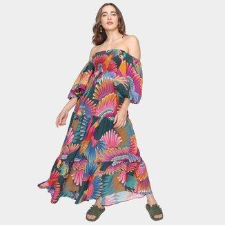Vestido Longo Farm Frescor De Tucano Feminino