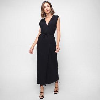 Vestido Longo Forum Transpassado Amarração Feminino