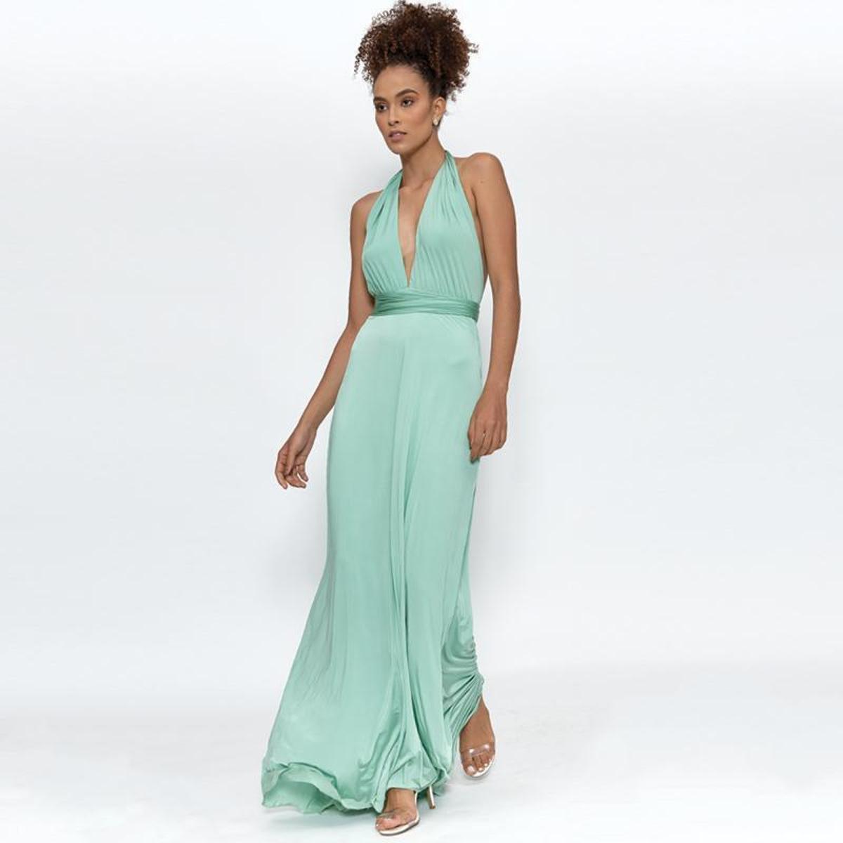 Vestido Longo Frente Única Capadócia Murau Feminino - Verde