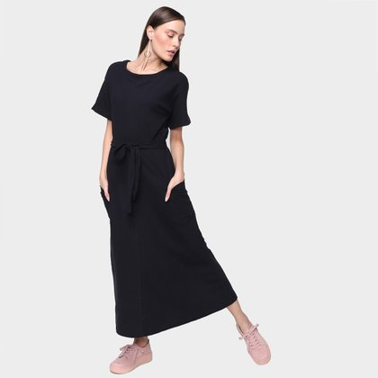 Vestido Longo Hering Básico Feminino
