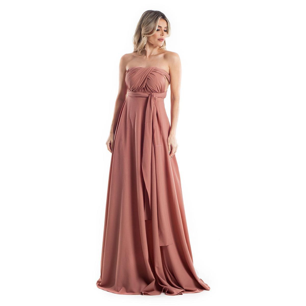 Vestido Longo Infinity Dress Lala Dubi Rose Gold