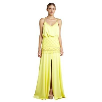 Vestido Longo Izadora Lima Brand Em Crepe Blusado Feminino-Feminino