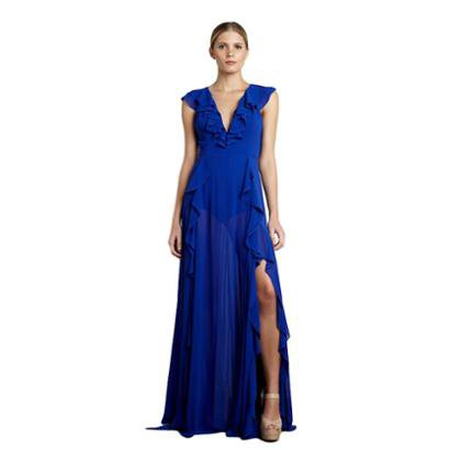 Vestido Longo Izadora Lima Brand Em Musseline Costas Abertas Feminino-Feminino