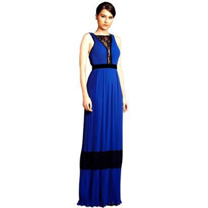 Vestido Longo Izadora Lima Brand Em Musseline Micro Plissada Feminino-Feminino