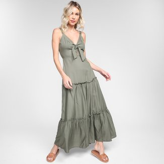 Vestido Longo Mercatto 3 Marias Liso