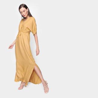 Vestido Longo Mercatto Liso Fenda