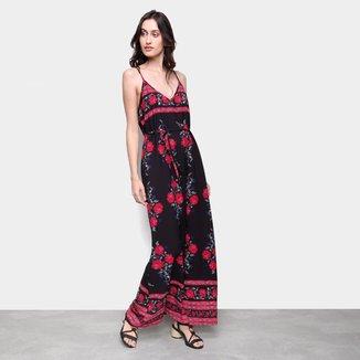 Vestido Longo Ms Fashion Estampado
