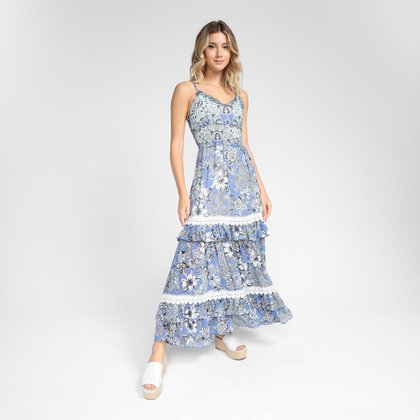 Vestido Longo Road Mel Must Have Feminino
