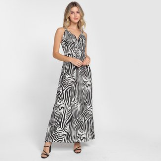 Vestido Longo Top Modas Animal Print