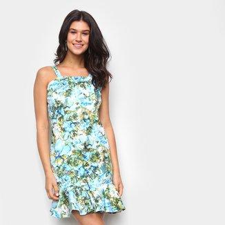 Vestido Los Wear Curto Babado Floral