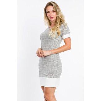 Vestido Malha Jacquard Feminino