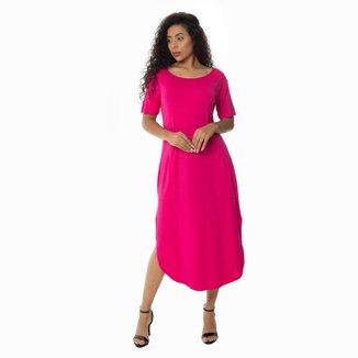 Vestido Malha Zipituka Com Bolsos 920 Pink - Pink - U