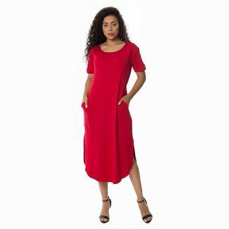 Vestido Malha Zipituka Com Bolsos 920 Vermelho - Vermelho - U