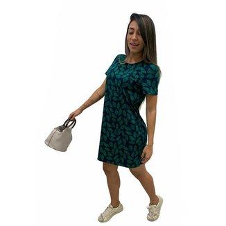 Vestido Malwee Estampado Feminino