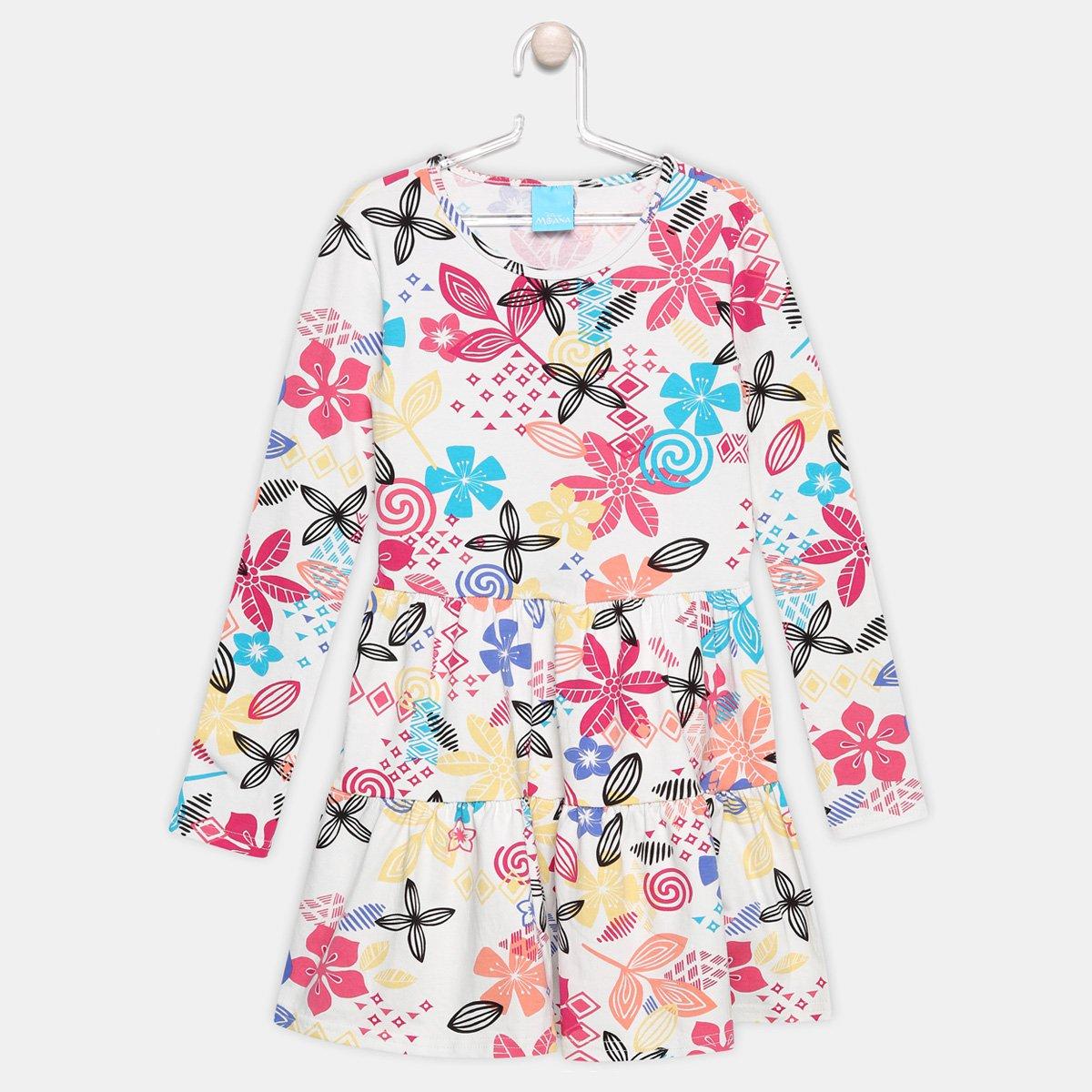 Vestido Malwee Moana Manga Longa Infantil - Compre Agora  a97da5abc7170