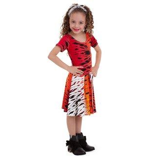 Vestido Manola Infantil Semi Rodado Zebra