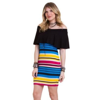 Vestido Manola Stela Colorido Feminino