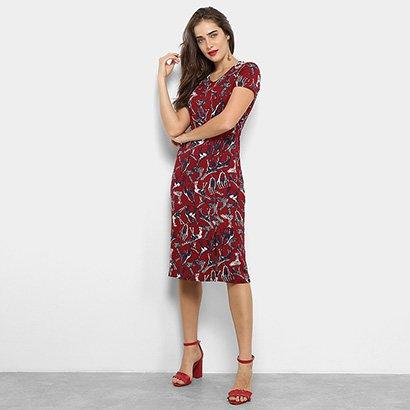 40567c497 Vestido Maria Filó Midi Reto Estampa Girafas-Feminino