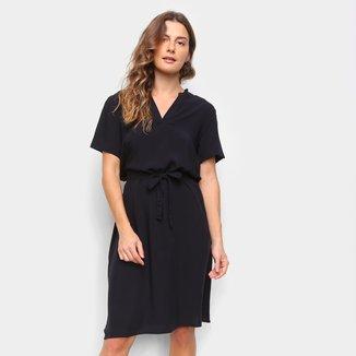 Vestido Marialicia Chemise Curto Amarração Frontal