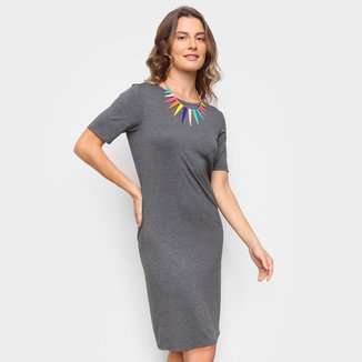 Vestido Marialicia Tubinho Curto Liso
