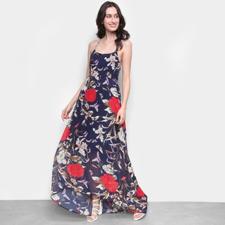 Vestido MI Frente Única Longo Floral